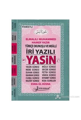 41 Yasin Türkçe Okunuşlu ve Mealli İri Yazılı (Cep Boy - Kod Fo24)