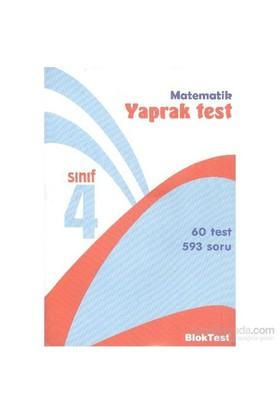 Bloktest 4. Sınıf Matematik Yaprak Test-Kolektif