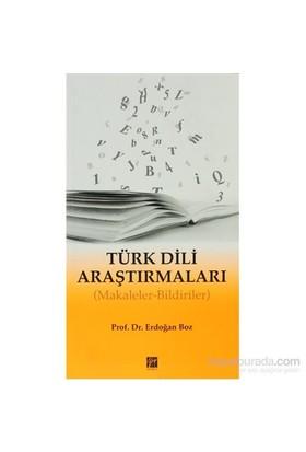 Türk Dili Araştırmaları-Erdoğan Boz