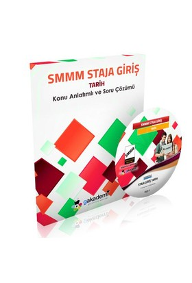 Görüntülü Akademi Smmm Staja Giriş Tarih Eğitim Seti 5 Dvd