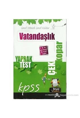 Beyaz Kalem 2015 Kpss Vatandaşlık Çek Kopart Yaprak Test-Kolektif