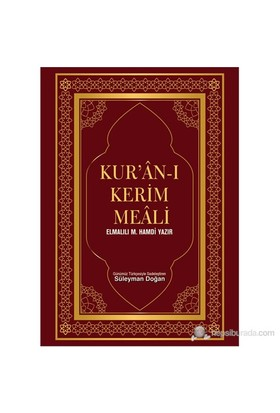 Kur'An-I Kerim Meali-Elmalılı Muhammed Hamdi Yazır