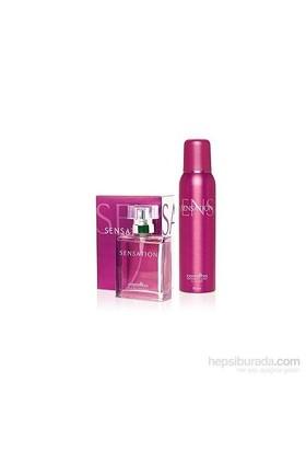 Carmina Sensation Edt 100Ml Kadın Parfüm + Deodorant Set