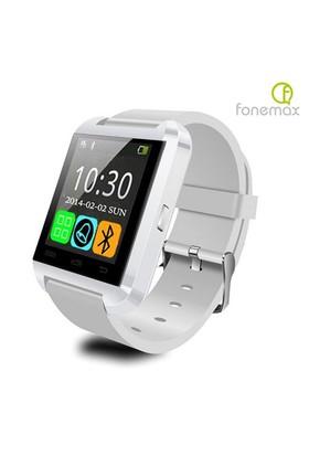 Fonemax U8 Beyaz iOS ve Android Uyumlu Akıllı Saat - u8saatb