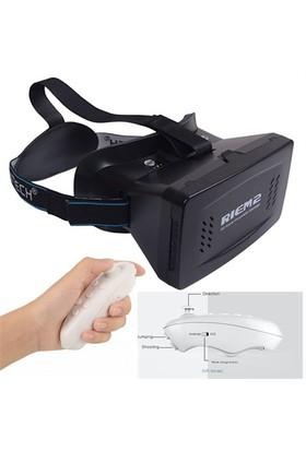 """Calibrex Riem 2 Vr 6"""" Google Cardboard Plastik Sanal Gerçeklik Gözlüğü + Bluetooth Kumanda"""