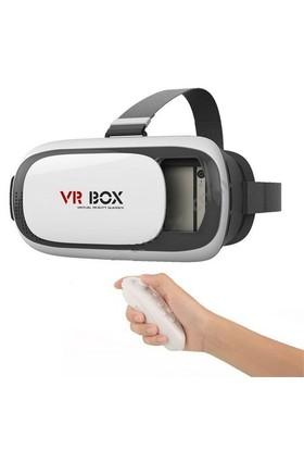 Cyber Vr-Box Stile Virtual Reality 3D Sanal Gerçeklik Gözlüğü + Bluetooth Kumanda