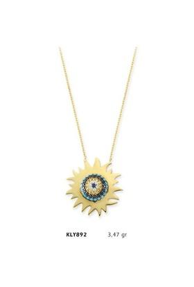 Romeo Pırlanta 14 Ayar Altın Güneş Kolye Kly892