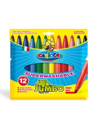 Carioca Kalın Keçeli Boya Kalemi Yıkanabilir 12'li