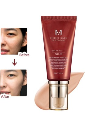 Missha M Perfect Cover BB Cream SPF42 (No.21/Light Beige) 50ml