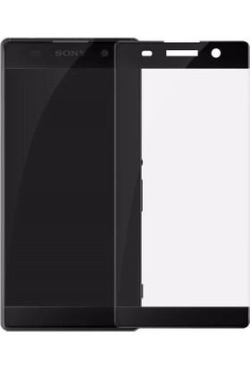 Serhan Sony Xperia Xz Premium 3D Kavisleride Kaplayan Renkli Temper Cam