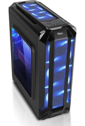 Power Boost Royal Serisi VK-G1004S 6x12cm Mavi Led Fanlı USB 3.0 Pencereli Gaming Kasa VK-G1004S
