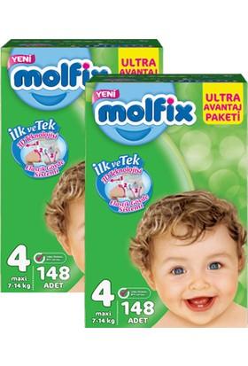 Molfix Bebek Bezi Comfort Fix Ultra Avantaj Paketi Maxi 4 Beden 296 Adet
