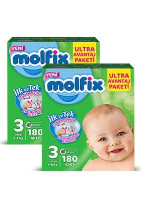 Molfix Bebek Bezi Comfort Fix Ultra Avantaj Paketi Midi 3 Beden 360 Adet