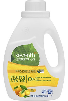 Seventh Generation Konsantre Doğal Sıvı Çamaşır Deterjanı - Ferah Limon Esintisi 1.47 L
