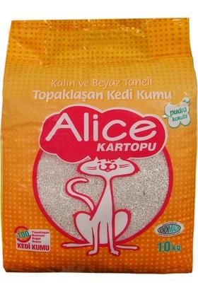 Alice Kalın Taneli Beyaz Topaklaşan Kedi Kumu 10 Kg