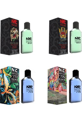 Nyc East Village Rock & Tattoo Edition ve Soho Street Art Edt 100 Ml*4 Erkek Parfüm Set