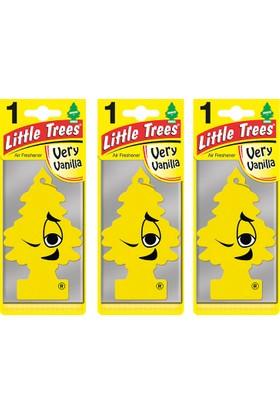 Car Freshener Little Trees Kağıt Koku Very Vanilla 3 adet