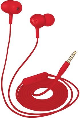 Trust 21952 Urban Ziva Kulak İçi Mikrofonlu Yumuşak Kulaklık Kırmızı