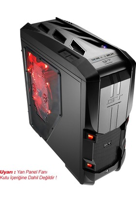 Aerocool GT-S Black Edition 700W 80+ Bronze Güç Kaynaklı Mid-Tower Oyuncu Kasası (AE-GTS-700)