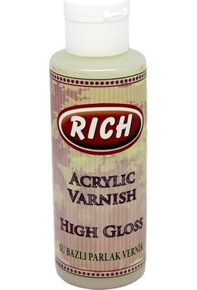 Rich High Gloss Su Bazlı Parlak Vernik 130 cc
