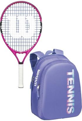 Wilson Burn Pink Jr.Hobi Tenis Raketi & Match Jr Çocuk Tenis Sırt Çantası Seti (WRZ822795)