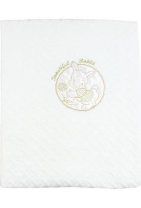 Missemo Tavşan Nakışlı Battaniye 100 x 80 cm