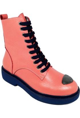 Nemesis Shoes Bayan Bot Turuncu Deri