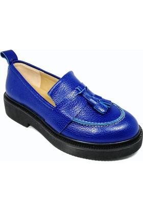Nemesis Shoes Bayan Ayakkabı Mavi Deri