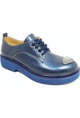 Nemesis Shoes Bayan Ayakkabı Lacivert Deri