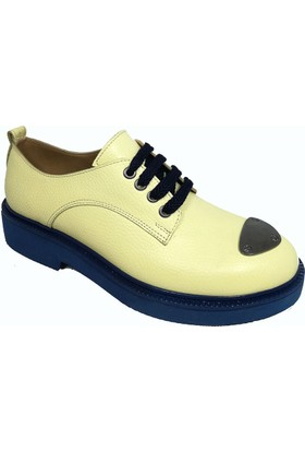 Nemesis Shoes Bayan Ayakkabı Sarı Deri