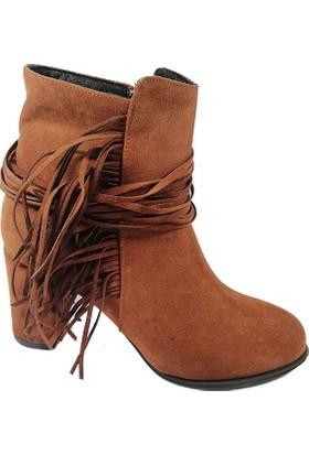 Nemesis Shoes Bayan Bot Taba Cilt Süet