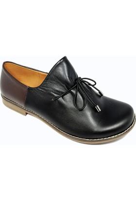 Nemesis Shoes Bayan Ayakkabı Siyah Deri