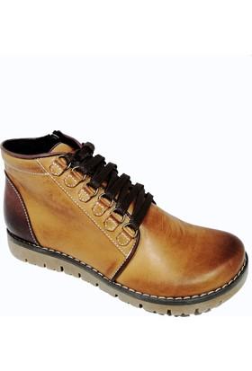 Nemesis Shoes Bayan Bot Taba Deri Kahve Deri