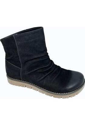 Nemesis Shoes Bayan Bot Siyah Nubuk