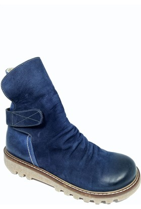 Nemesis Shoes Bayan Bot Lacivert Nubuk