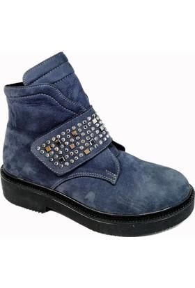 Nemesis Shoes Bayan Bot Gri Nubuk