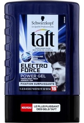 Taft Tüp Jöle Electro Force Power Gel En Güçlü Tutuş No:15 300Ml