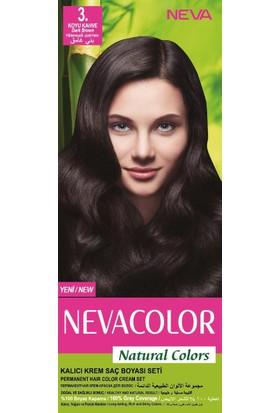 Nevacolor Natural Colors Kalıcı Saç Boya Seti 3. Koyu Kahve