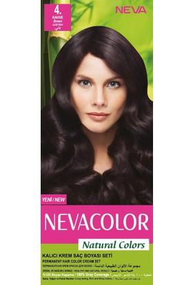 Nevacolor Natural Colors Kalıcı Saç Boya Seti 4. Kahve