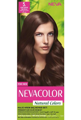 Nevacolor Natural Colors Kalıcı Saç Boya Seti 5. Açık Kahve