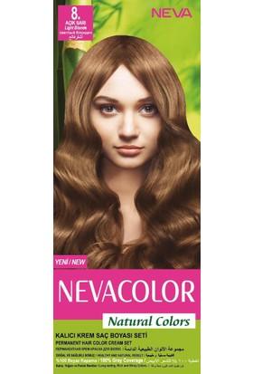 Nevacolor Natural Colors Kalıcı Saç Boya Seti 8 Açık Sarı