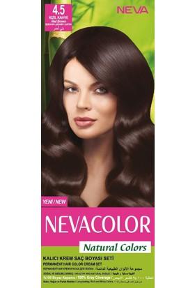 Nevacolor Natural Colors Kalıcı Saç Boya Seti 4.5 Kızıl Kahve