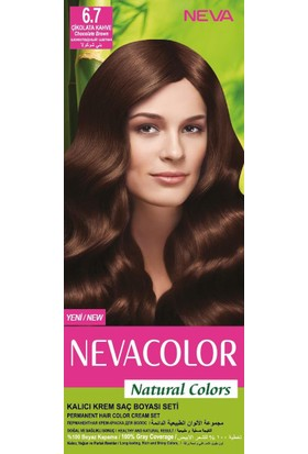 Nevacolor Natural Colors Kalıcı Saç Boya Seti 6.7 Çikolata Kahve