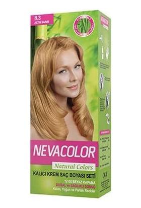 Nevacolor 8.3 Altın Sarısı Naturalcolor Saç Boya Seti
