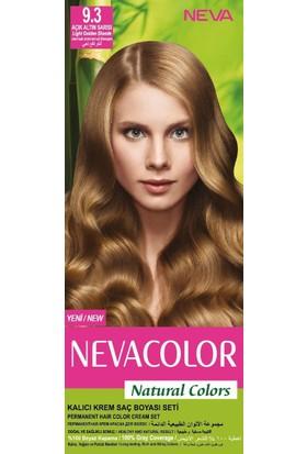 Nevacolor Natural Colors Kalıcı Saç Boya Seti 9.3 Açık Altn Sarı