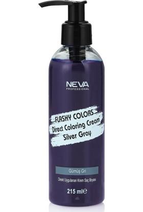 Neva Flashy Colors Gümüş Gri Direkt Uygulanan Krem Saç Boyası 215Ml