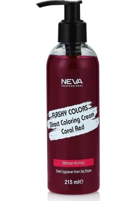 Neva Flashy Colors Mercan Kırmızı Direkt Uygulanan Krem Saç Boyası 215Ml