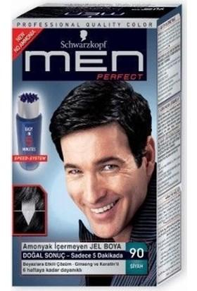 Schwarzkopf Men Perfect Erkek Saç Boyası - Siyah 90