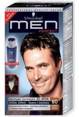Schwarzkopf Men Perfect Erkek Saç Boyası - Siyah Kahve 80