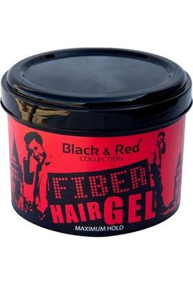 Black-Red Hair Gel Fiber Maksimum Güç Jöle 300 Ml